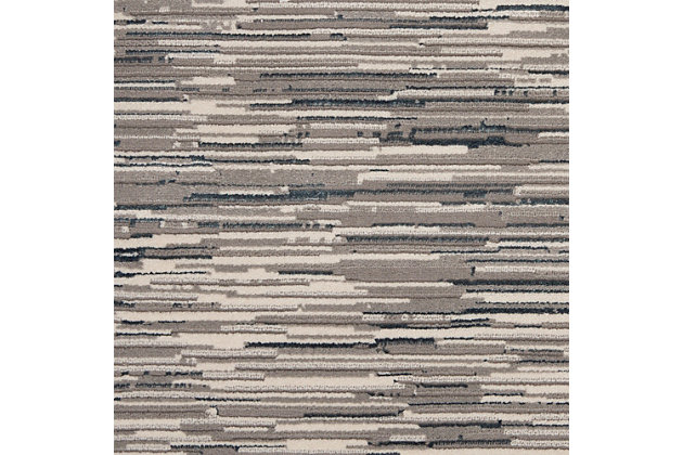 Nourison Uptown 5' x 7' Area Rug, Gray/Ivory, large