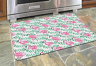 "Home Accents Premium Comfort 1'10"" x 2'7"" Pink Flamingos Mat, , rollover"