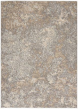 Nourison Uptown 5' X 7' Area Rug, Beige/Gray, large