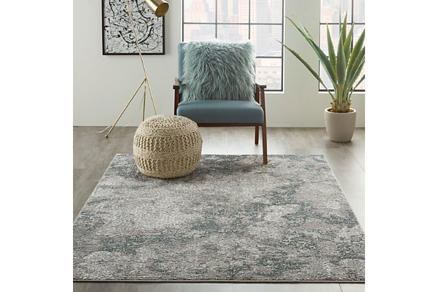 Nourison Uptown 5' x 7' Area Rug, Gray, large