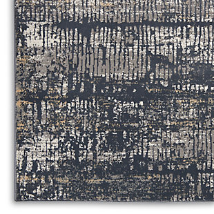 Nourison Uptown 5' x 7' Area Rug, Charcoal Gray, large