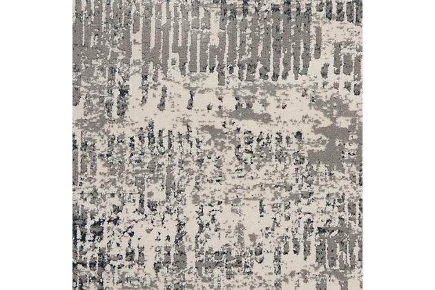 Nourison Uptown 8' Runner Area Rug, Ivory/Gray, large