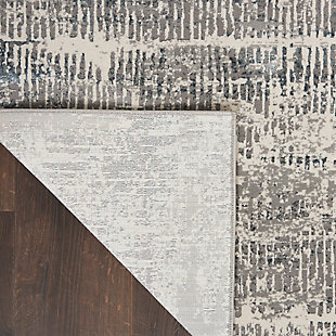 Nourison Uptown 5' x 7' Area Rug, Ivory/Gray, large