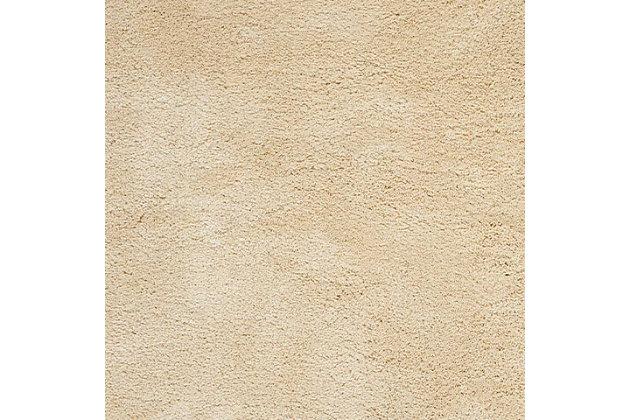 Nourison Shag Beige 5'x7' Area Rug, Bone, large
