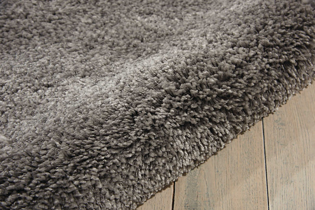 Nourison Shag Gray 5'x7' Area Rug, Silver, large