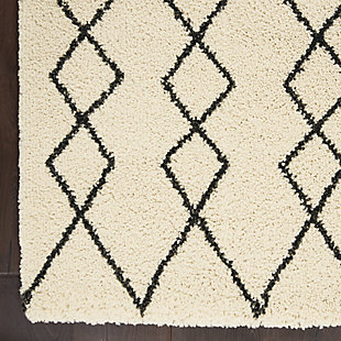 Nourison Nourison Martil MAT01 Ivory White 5'x7' Moroccan Area Rug, Ivory/Charcoal, large