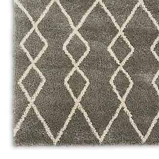 Nourison Nourison Martil MAT01 Gray 8'x10' Large Plush Rug, Silver, large