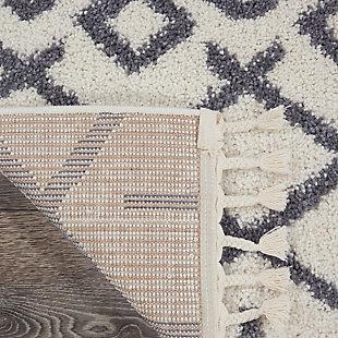 Nourison Nourison Moroccan Shag 8' x 11' Area Rug, White, large
