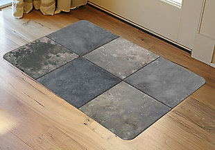 """Home Accents FoFlor 1'11"""" x 3' Clean Slate Accent Mat, , rollover"""