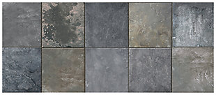 """Home Accents FoFlor 2'1"""" x 5' Clean Slate Accent Runner, Gray, large"""