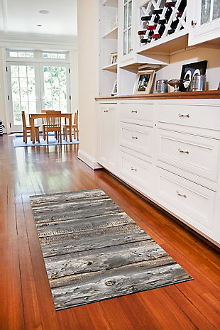 """Home Accents FoFlor 2'1"""" x 5' Cabin Creek Accent Runner, Gray, large"""