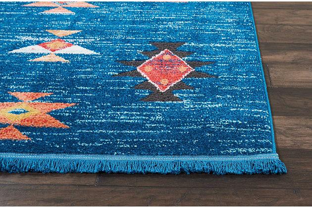 Nourison Nourison Navajo NAV07 Blue 8'x11' Oversized Rug, Blue, large
