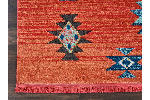 Nourison Nourison Navajo NAV07 Red 8'x11' Oversized Rug, Red, large