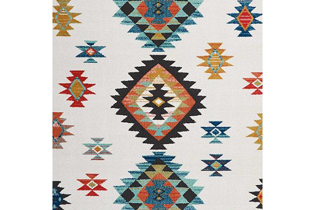 Nourison Nourison Navajo NAV07 White 8'x11' Oversized Rug, White, large