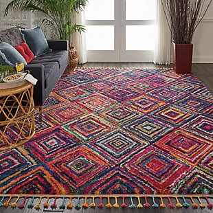 Nourison Nourison Nomad Nmd01 Red 8'x11' Oversized Rug, Red/Multi, rollover