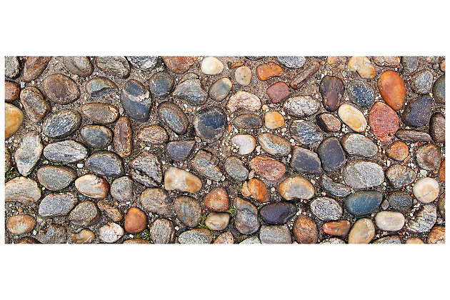 """Home Accents FoFlor 2'1"""" x 5' Stone Path Accent Runner, , large"""