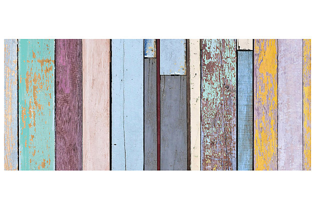 """Home Accents FoFlor 2'1"""" x 5' Colored Weathered Wood Accent Runner, Blue, large"""