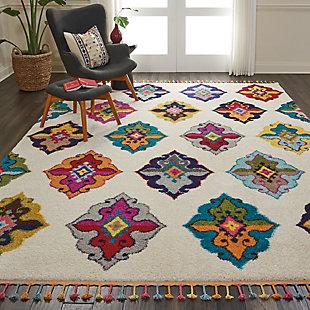 Nourison Nourison Nomad NMD06 Multicolor 8'x11' Oversized Rug, Ivory/Multi, rollover