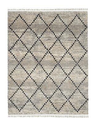 Nourison Nourison Oslo Shag OSL01 8'x11' Large Silver Gray Scandinavian Shag Rug, Silver Gray, large