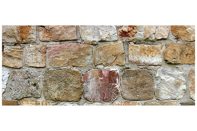 "Home Accents FoFlor 2'1"" x 5' Rock Wall Accent Runner, , large"