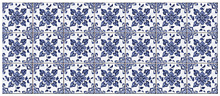 "Home Accents FoFlor 2'1"" x 5' Delft Floral Accent Runner, , large"