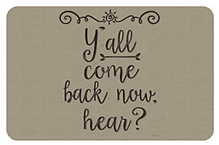 "Home Accents 1'11"" x 3' Y'all Come Back Accent Mat, , large"