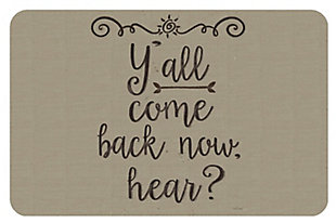 """Home Accents 1'11"""" x 3' Y'all Come Back Accent Mat, , large"""