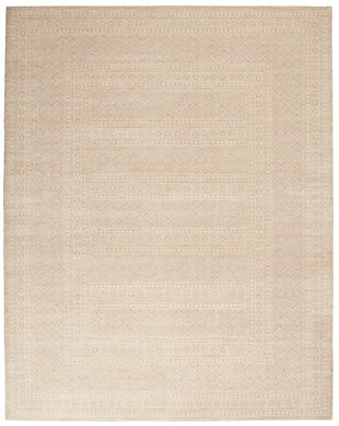 "Nourison Nourison Palermo 8' x 10"" Beige Distressed Bohemian Area Rug, Beige, large"