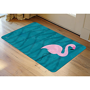 "Home Accents 1'11"" x 3' Flamingo Accent Mat by Dominique Vari, , rollover"