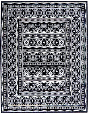 """Nourison Nourison Palermo 8' x 10"""" Navy and Gray Distressed Bohemian Area Rug, Navy/Gray, large"""