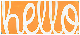 """Home Accents 2'1"""" x 5' Hello Accent Runner, Orange, large"""