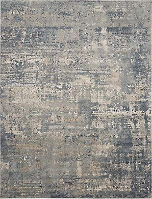 Nourison Nourison Quarry 8' X 10' Rustic Area Rug, Gray/Beige, large