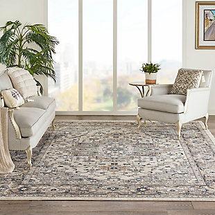 Nourison Nourison Quarry 8' x 10' Persian Area Rug, Ivory/Gray, rollover