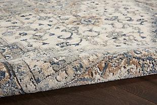 Nourison Nourison Quarry 8' x 10' Persian Area Rug, Ivory/Gray, large