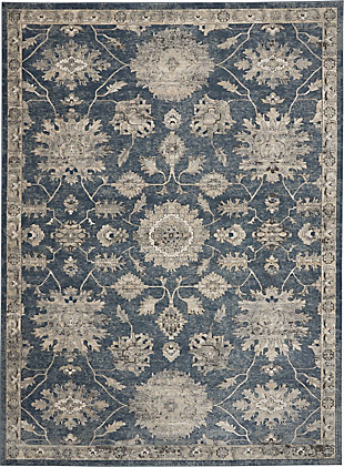 Nourison Nourison Quarry 8' x 10' Persian Area Rug, Blue/Beige, large