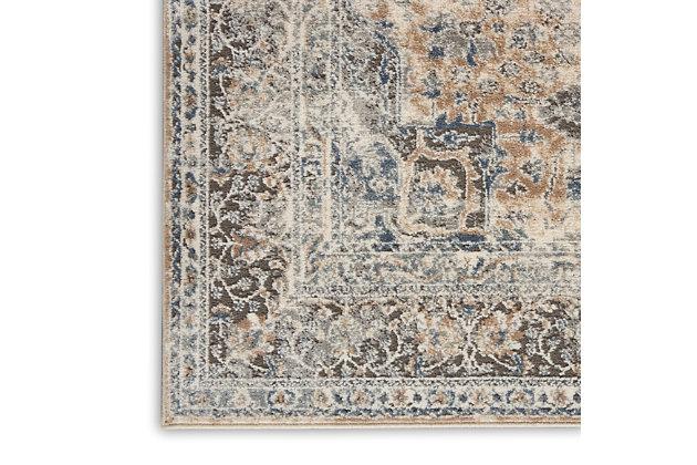 Nourison Nourison Quarry 8' X 10' Persian Area Rug, Beige/Gray, large