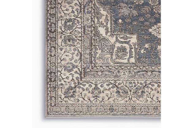 Nourison Nourison Quarry 8' x 10' Persian Area Rug, Gray/Ivory, large