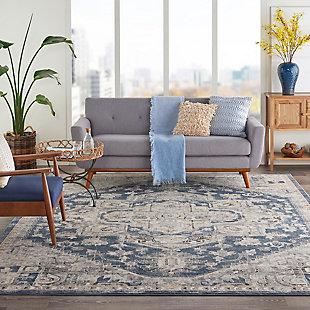 Nourison Nourison Quarry 8' x 10' Persian Area Rug, Ivory Blue, rollover