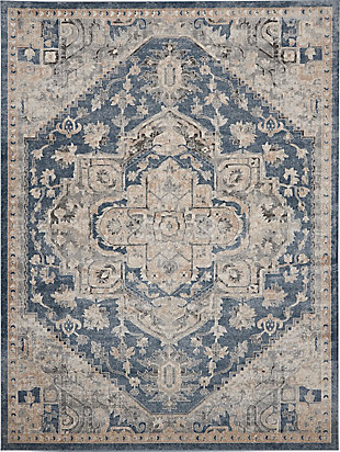 Nourison Nourison Quarry 8' x 10' Persian Area Rug, Ivory Blue, large