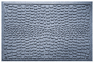 "Home Accents Aqua Shield 1'11"" x 3' Alligator Indoor/Outdoor Doormat, Blue, large"