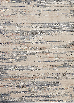 Nourison Nourison Rustic Textures Rus04 Beige And Gray 8'x11' Oversized Rug, Beige/Gray, large