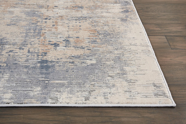 Nourison Nourison Rustic Textures Rus05 Beige And Gray 8'x11' Oversized Rug, Beige/Gray, large