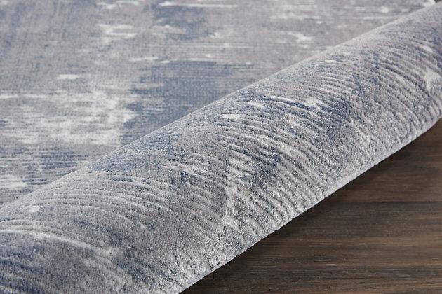 Nourison Nourison Rustic Textures Rus05 Gray 4'x6' Rustic Area Rug, Gray, large