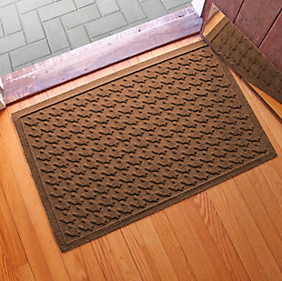 "Home Accents Aqua Shield 1'11"" x 3' Houndstooth Indoor/Outdoor Doormat, Brown, rollover"