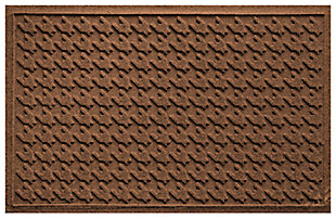 "Home Accents Aqua Shield 1'11"" x 3' Houndstooth Indoor/Outdoor Doormat, Brown, large"