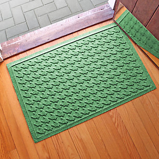 "Home Accents Aqua Shield 1'11"" x 3' Houndstooth Indoor/Outdoor Doormat, Green, rollover"