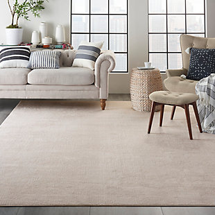 Nourison Silky Textures 8'x 11' Area Rug, Ivory/Gray, rollover