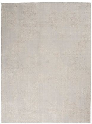 Nourison Silky Textures 8'x 11' Area Rug, Ivory/Gray, large