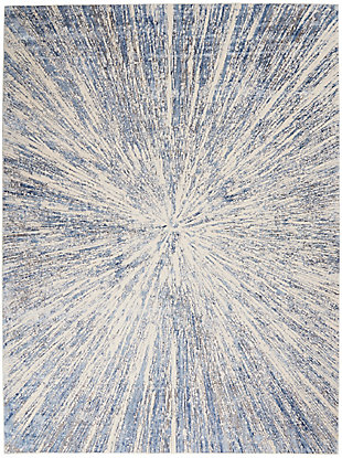 Nourison Silky Textures 8'x 11' Area Rug, Blue/Gray, large