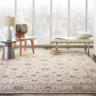 Nourison Silky Textures 8'x 11' Area Rug, Ivory, rollover